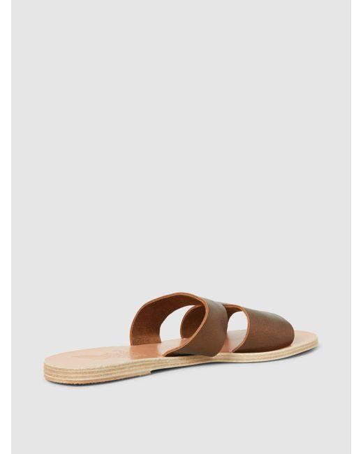 Apteros Metallic Crosta Leather Sandals Ancient Greek Sandals Ju2A25sZHN