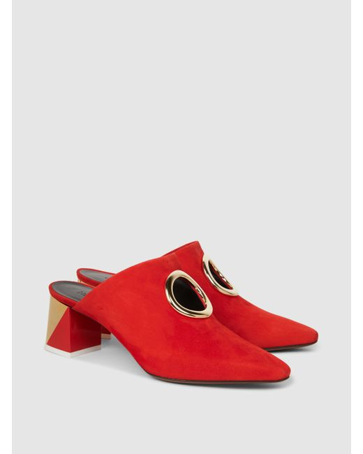 Neous Pleione Embellished Cutout Suede Mules kCQMkpuz73