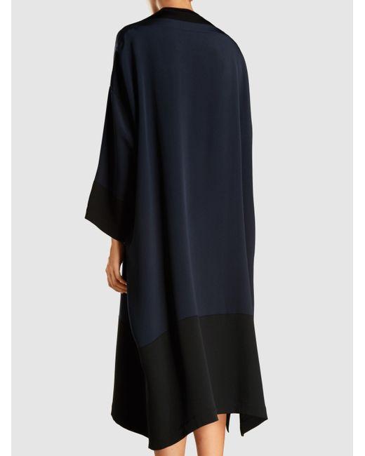 Two-Tone Silk Dress Eskandar r7sRiV
