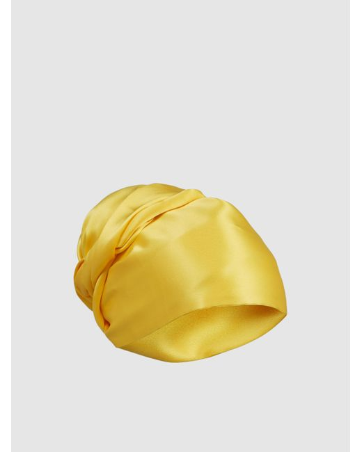 F.R.S For Restless Sleepers Yellow Silk Turban