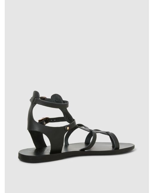 2b6d4f120e8 ... Ancient Greek Sandals - Black Stephanie Vachetta Leather Sandals - Lyst  ...
