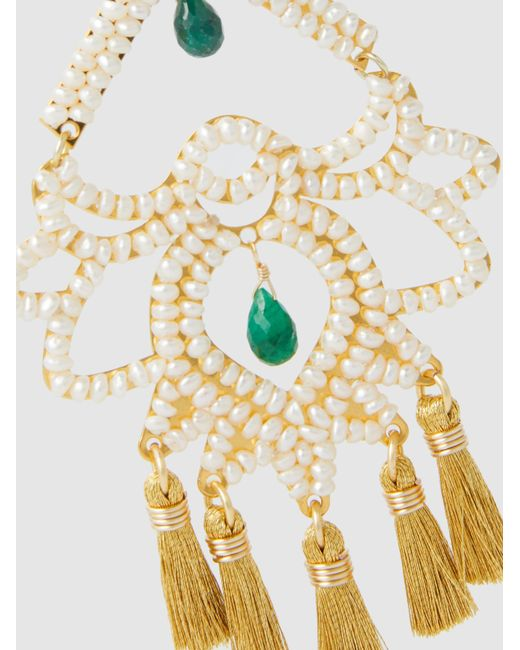 Paramo Nieve Fringe Drop Earrings Mercedes Salazar 6DJHxDsAog