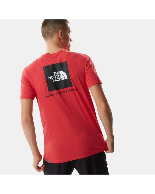 T-shirt di The North Face in Red da Uomo