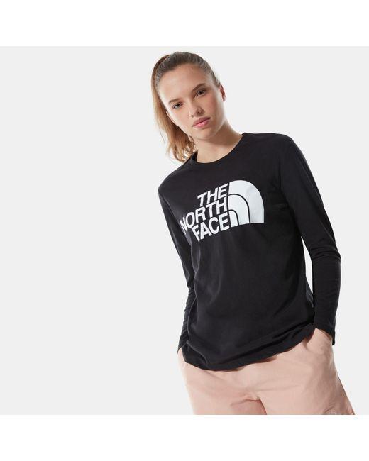 T-shirt À Manches Longues Standard The North Face en coloris Black