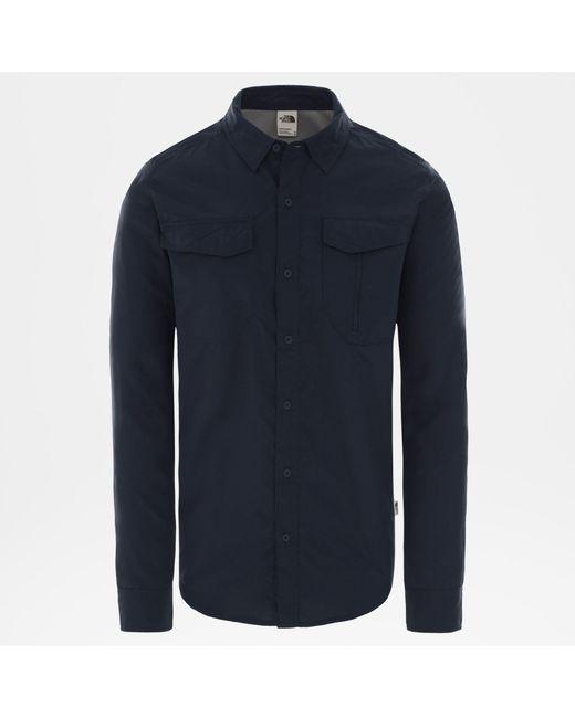 Camicia A Maniche Lunghe di The North Face in Blue da Uomo