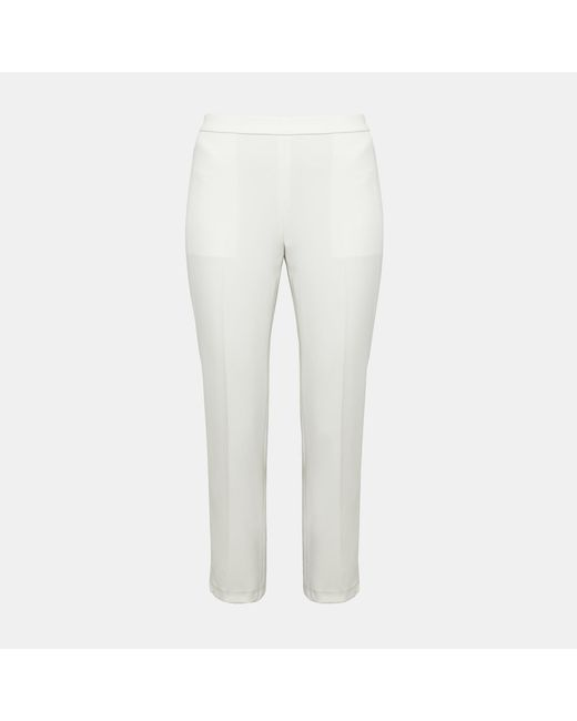 Theory - White Crepe Basic Pull-on Pant - Lyst