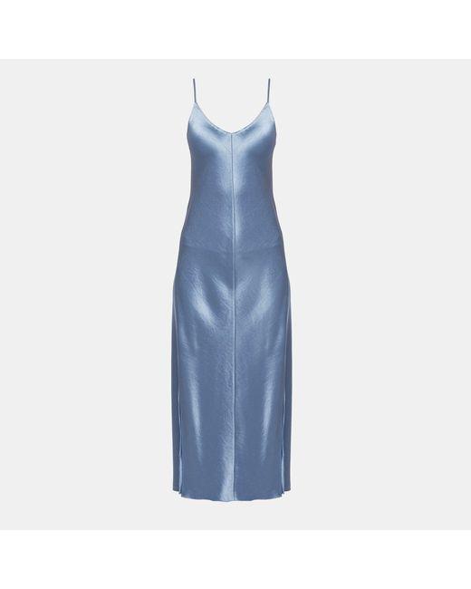 Theory - Blue Silk Unstructured Blazer - Lyst