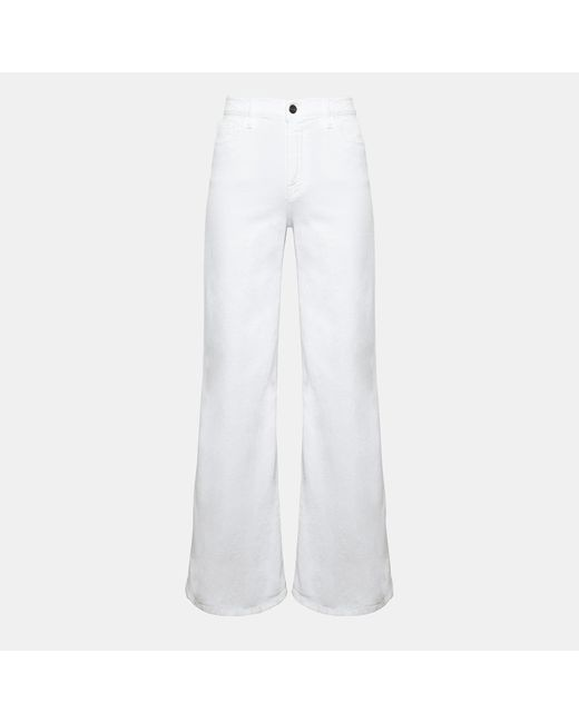 Theory - White Frame Le Palazzo Pant - Lyst