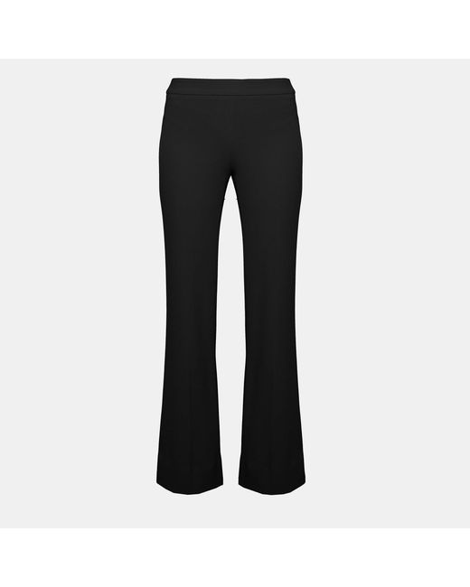 Theory - Black Crepe Flare Pant - Lyst