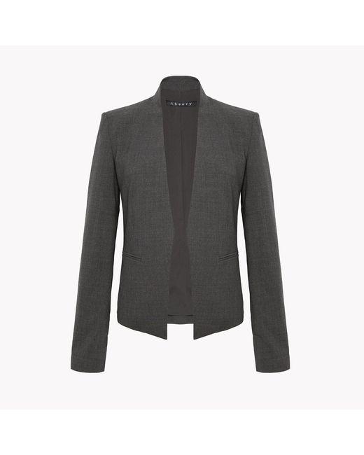 Theory | Gray Silk Sleeveless Shirt | Lyst