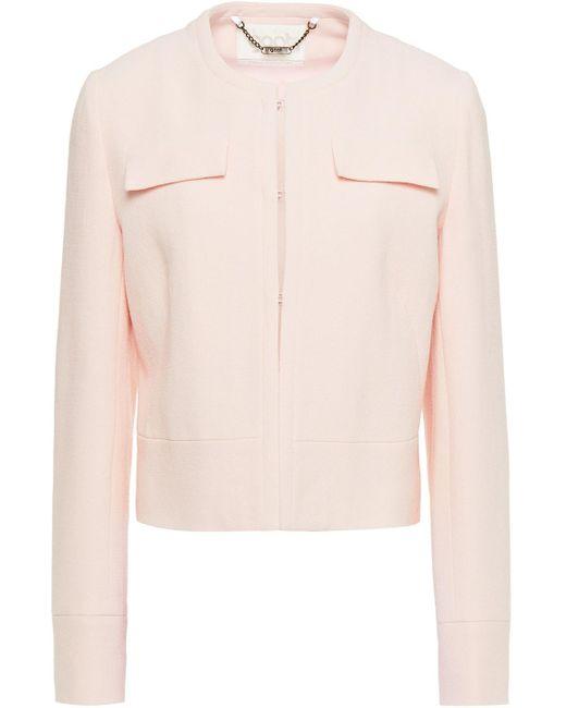 Goat Pink Kourtney Wool-crepe Jacket