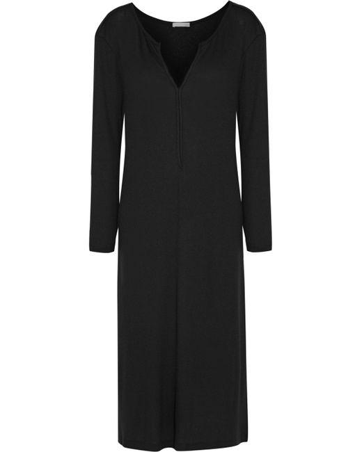 Skin | Black Stretch Pima Cotton And Modal-blend Nightdress | Lyst