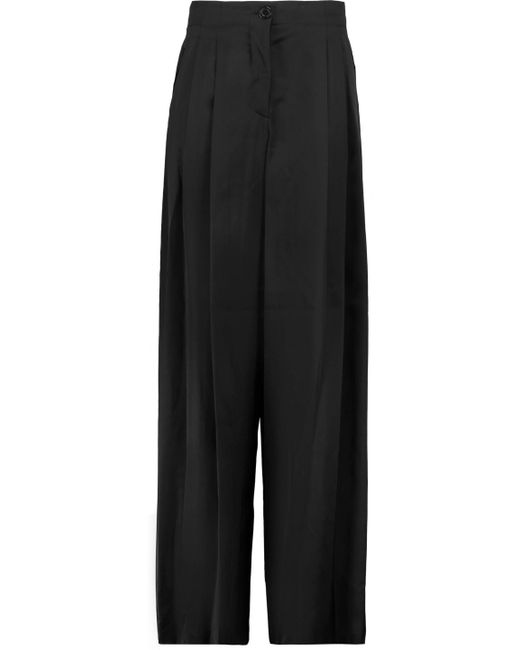 Emilio Pucci - Black Woven Wide-leg Pants - Lyst