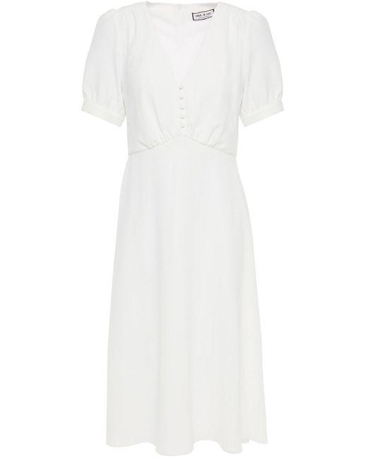 Paul & Joe White Gathered Crepe Dress