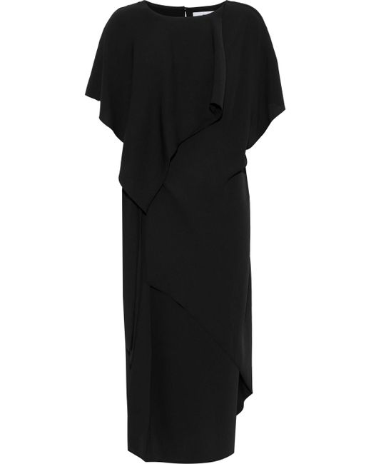 Chalayan - Woman Layered Knotted Crepe Dress Black - Lyst