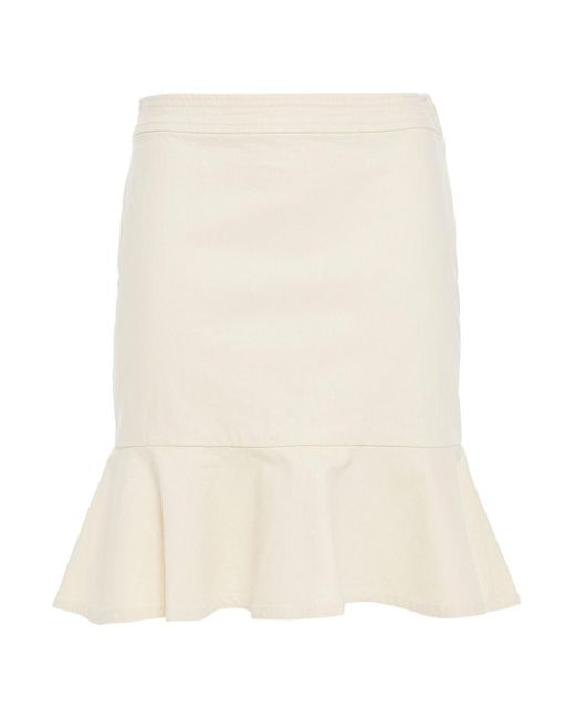 Vanessa Bruno Natural Nazra Fluted Cotton-blend Gabardine Mini Skirt
