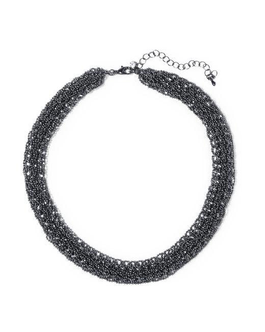 Kenneth Jay Lane | Black Bead Necklace | Lyst