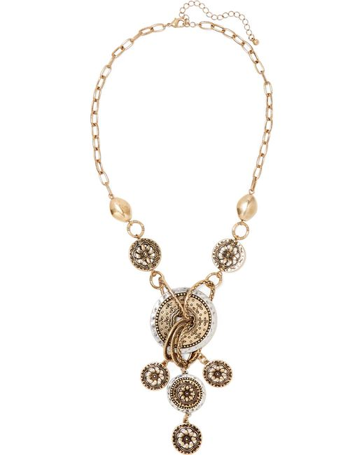 Kenneth Jay Lane | Metallic Gold And Silver-tone Necklace | Lyst