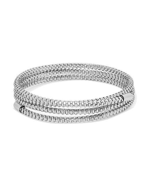Kenneth Jay Lane | Metallic Silver-tone Wrap Bracelet | Lyst
