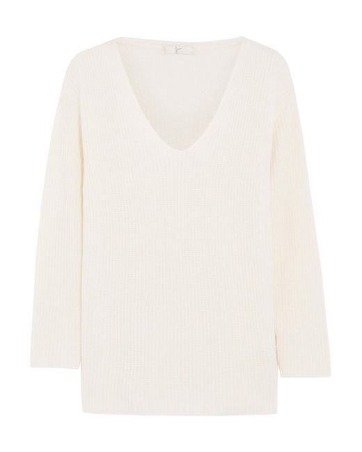 Joie | White Wei Ribbed Wool And Cashmere-blend Sweater | Lyst