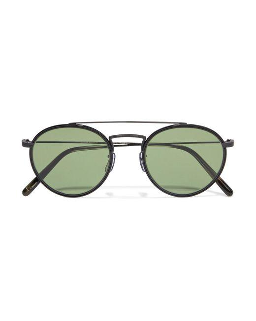 Oliver Peoples Black Ellice Round-frame Titanium Sunglasses