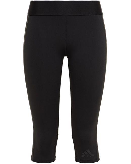 Adidas Cropped Stretch Leggings Black