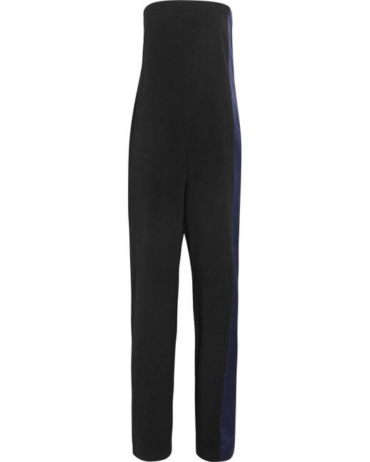 Rag & Bone - Black Ida Strapless Charmeuse-paneled Faille Jumpsuit - Lyst