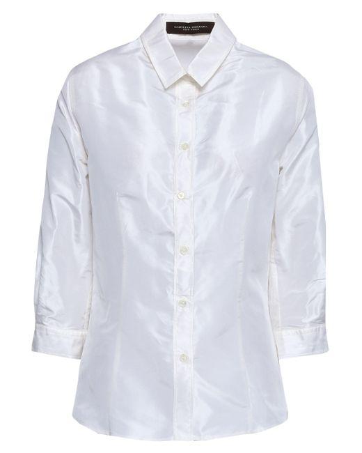 a74355afbe76e Lyst - Carolina Herrera Woman Silk-taffeta Shirt Off-white in White