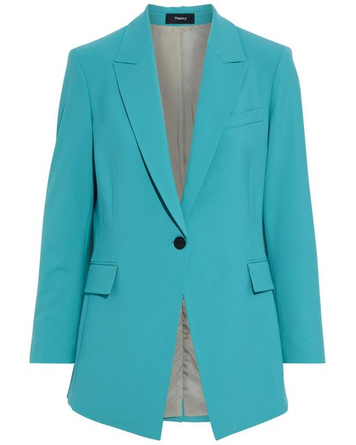 Theory Blue Wool-blend Blazer