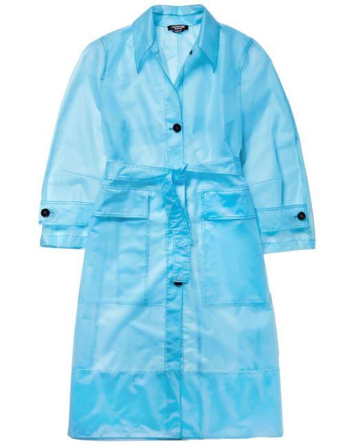 CALVIN KLEIN 205W39NYC Belted Plastic Raincoat Light Blue
