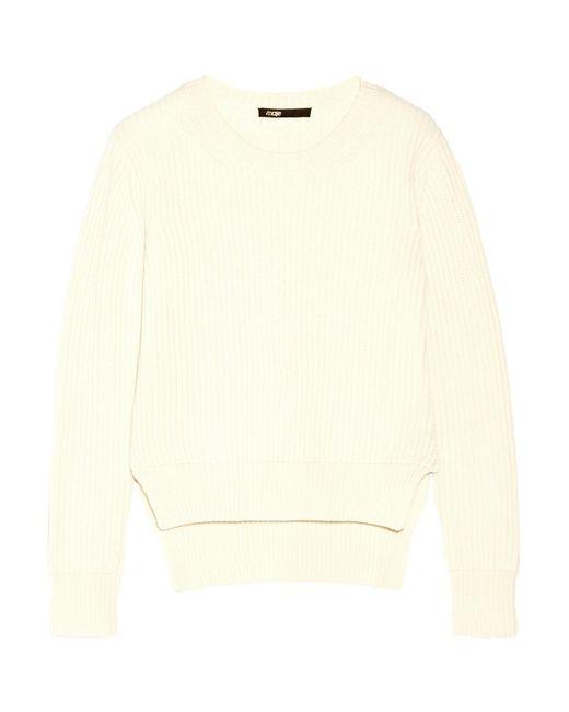 Maje | Black Maia Ribbed Wool Sweater | Lyst