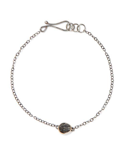 Melissa Joy Manning - Metallic Sterling Silver Stone Bracelet - Lyst
