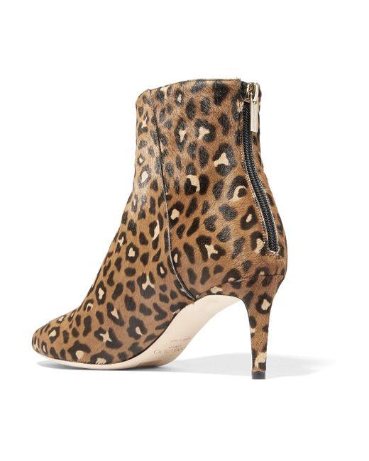 0dcf7062583 Women's Brown Duke Leopard-print Calf Hair Ankle Boots Animal Print