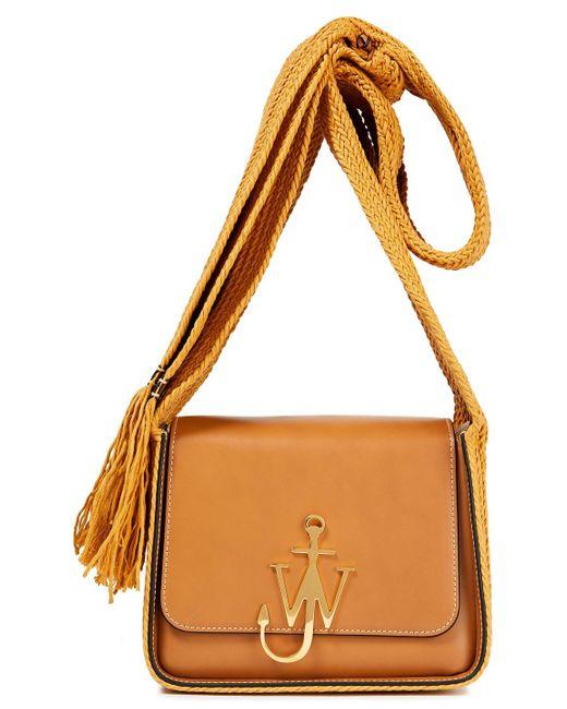 J.W. Anderson Multicolor Logo-appliquéd Leather Shoulder Bag Camel