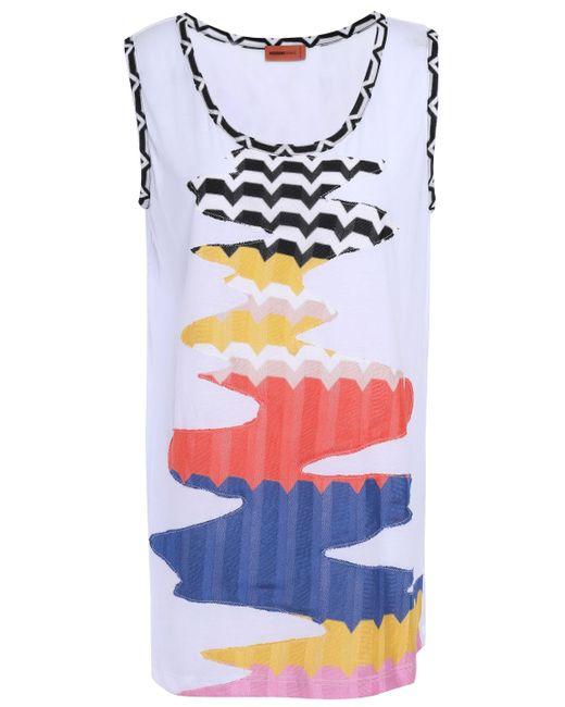 Missoni Crochet-paneled Slub Jersey Top White