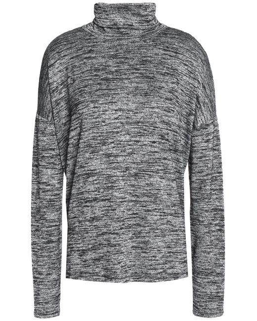 Rag & Bone - Gray Cutout Marled Stretch-knit Turtleneck Sweater - Lyst