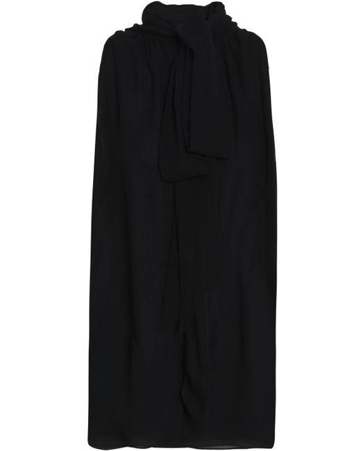 Michael Kors - Black Pussy-bow Silk-chiffon Top - Lyst