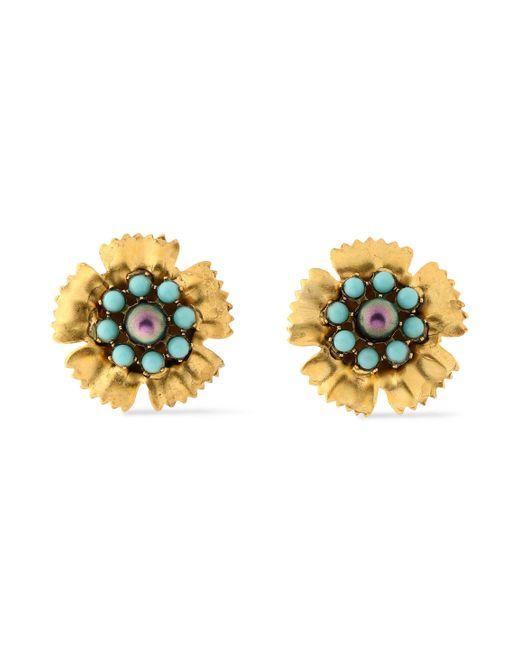 Elizabeth Cole - Multicolor Gold-tone Stone Earrings - Lyst