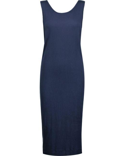 Splendid   Blue Twofer Textured Stretch-jersey Midi Dress   Lyst