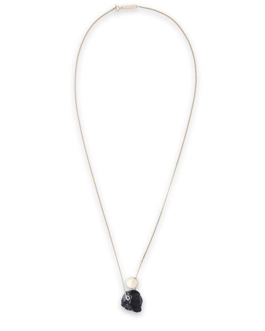 Proenza Schouler - Black Gold-tone Stone Necklace - Lyst