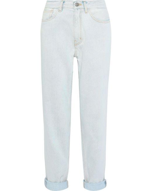 MiH Jeans - Blue Linda Cropped Boyfriend Jeans - Lyst