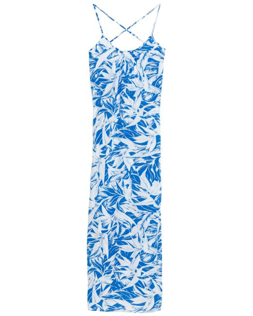 Melissa Odabash - Blue Angelina Printed Voile Maxi Dress - Lyst
