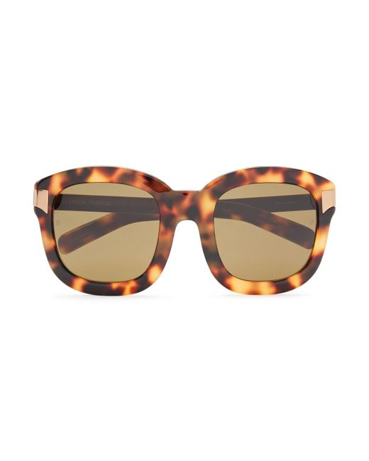 Linda Farrow Brown Square-frame Gold-tone And Tortoiseshell Acetate Sunglasses