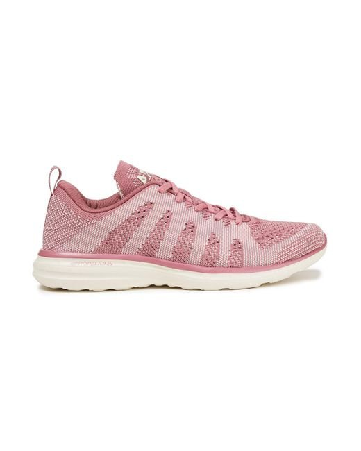 APL Shoes Pink Techloom Pro Stretch-knit Sneakers Antique Rose