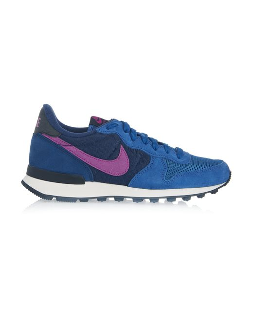 Nike | Blue Internationalist Suede, Leather And Mesh Sneakers | Lyst