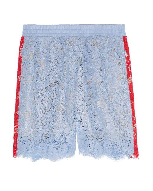Goen.J - Blue Two-tone Corded Lace Shorts - Lyst