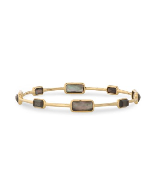 Ippolita - Metallic 18-karat Gold, Quartz And Shell Bangle - Lyst