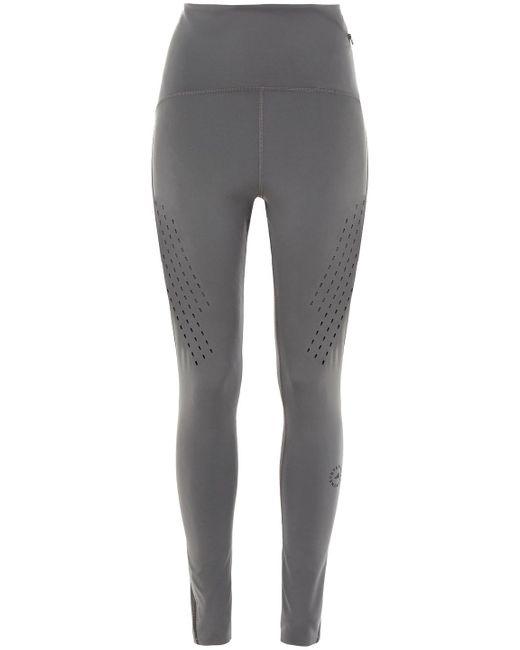 Adidas By Stella McCartney Gray Truepurpose Perforated Stretch Leggings