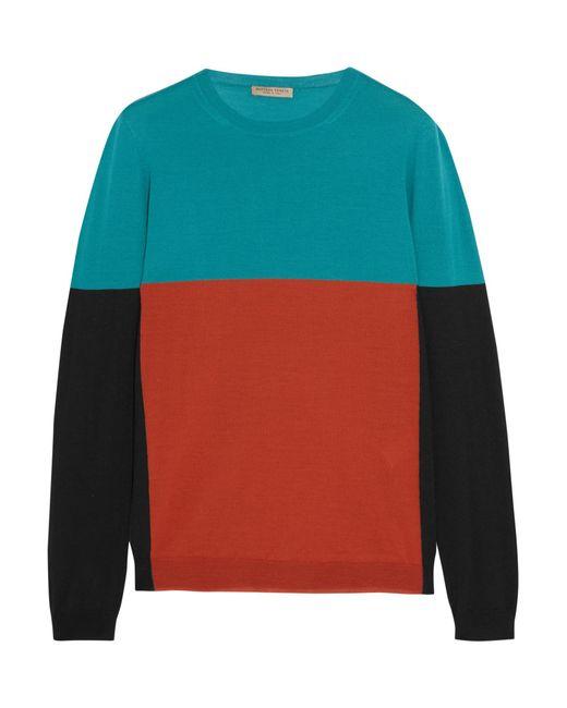 Bottega Veneta   Multicolor Color-block Merino Wool Sweater   Lyst