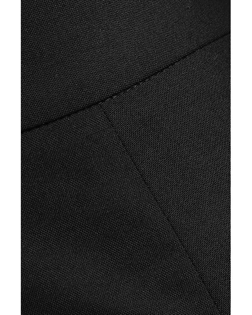 Theory Stretch-wool Wide-leg Pants Black